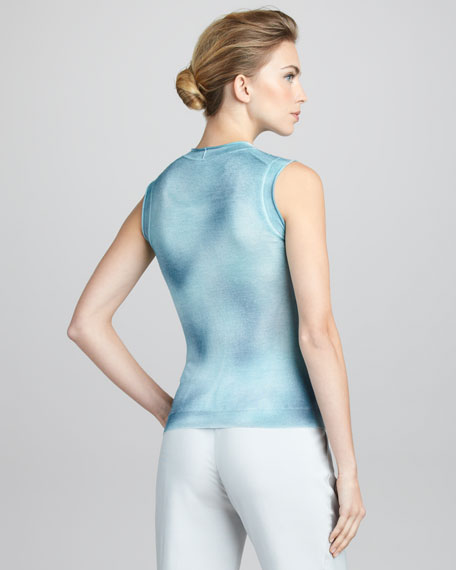 Hand-Painted Cashmere Tank