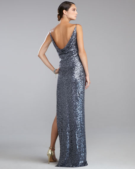 Sequined Gown, Pewter