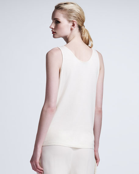 Pearl-Embroidered Tank