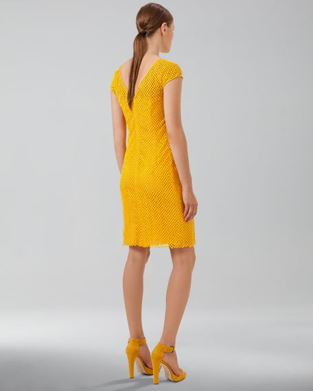 V-Back Cobblestone Knit Dress