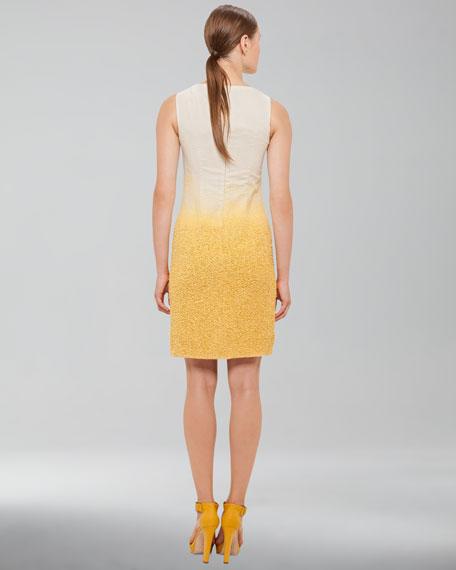 Ombre Boucle Sheath Dress, Pollen Cordage