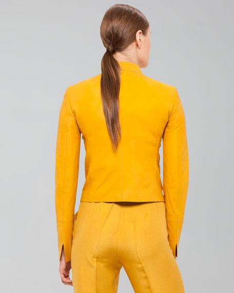 Nubuck Calfskin Jacket, Pollen