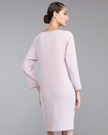 Luxe Crepe Cocoon Dress, Orchid