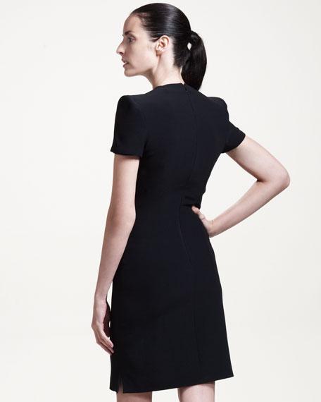Short-Sleeve Dress with Side Slit
