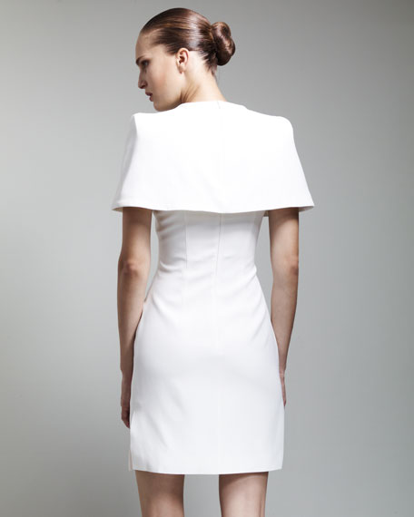 Cape-Back Dress, Ivory