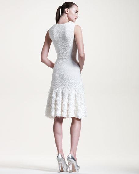 Sleeveless Pucker-Knit Dress