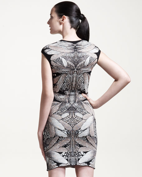 Short Dragonfly Wing-Knit Dress