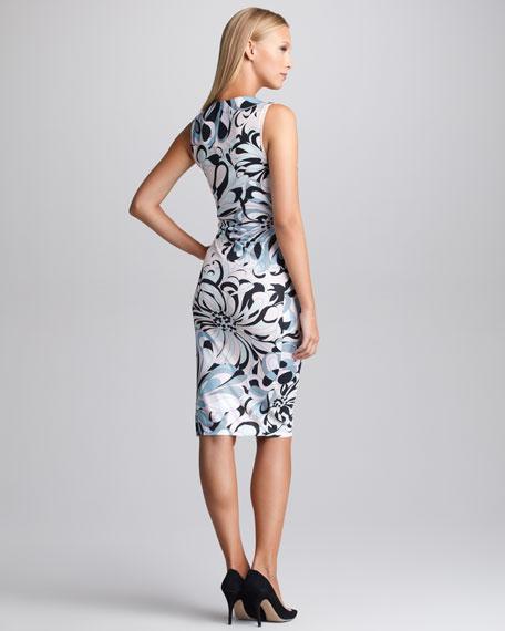 Printed V-Neck Dress