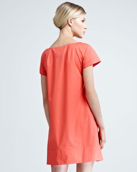 Poplin Rosette Dress