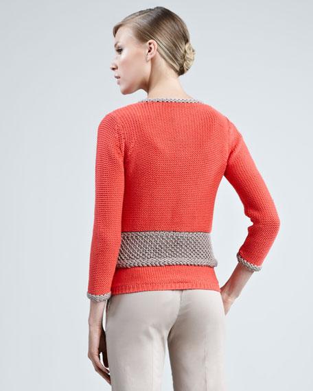 Two-Tone Crochet Cardigan