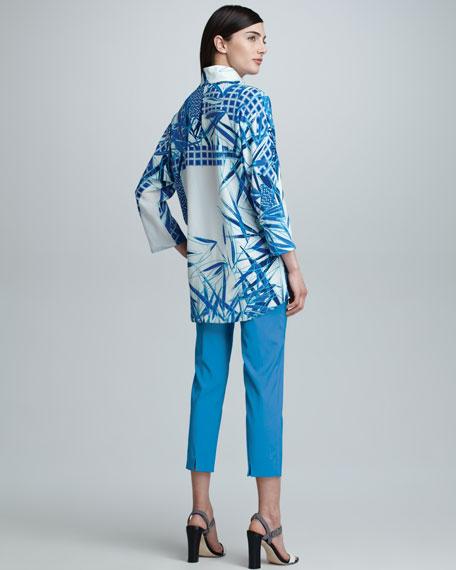 Audrey Capri Pants, Turquoise