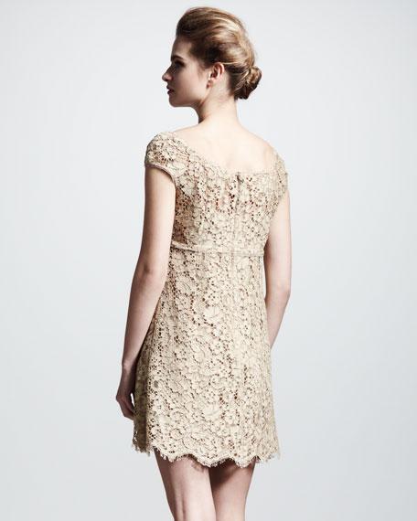 Lace Cap-Sleeve Dress