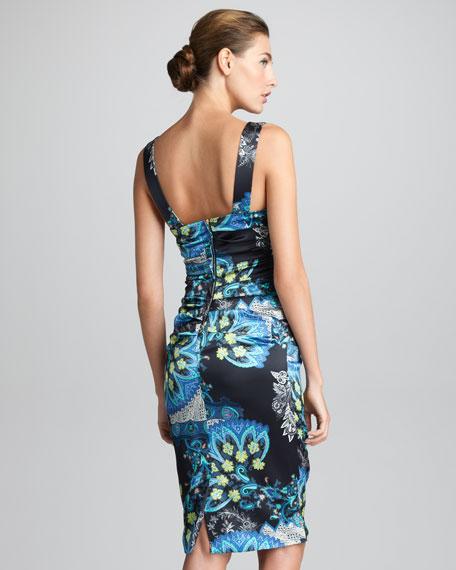 Detachable-Strap Sheath Dress, Black