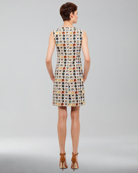 Facade-Print Cotton Dress