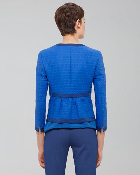 Three-Quarter-Sleeve Cotton Jacket, Royal