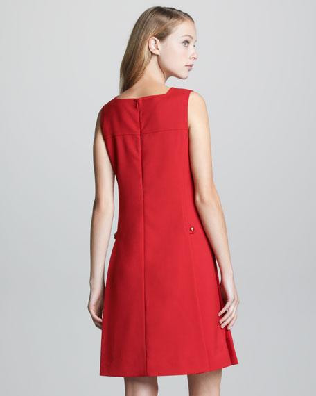 Sleeveless V Neck Dress