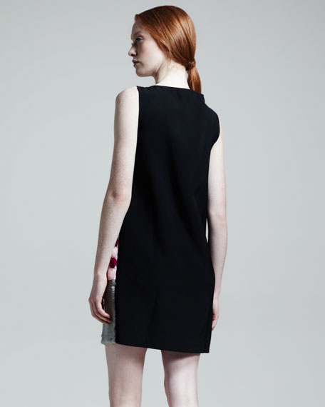 Paillette Sequined-Front Shift Dress