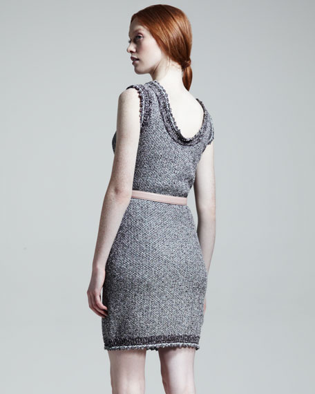 Metallic Cotton Knit Dress