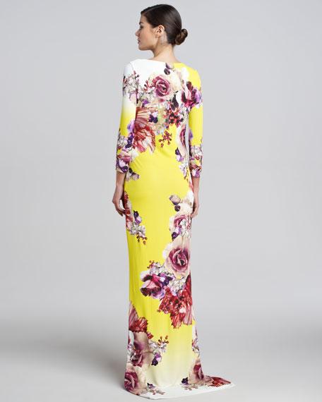 Floral-Print Long Dress