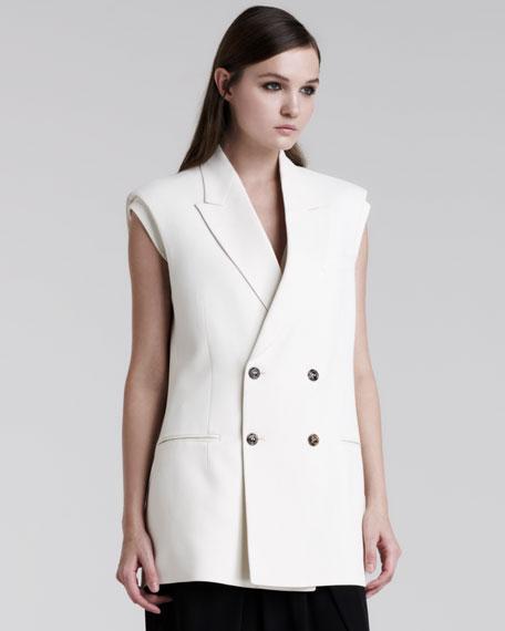 Sleeveless Double-Breasted Jacket
