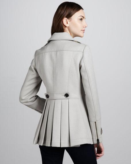 Short Twill Pea Coat