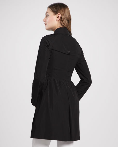 Taffeta Double-Breasted Anorak