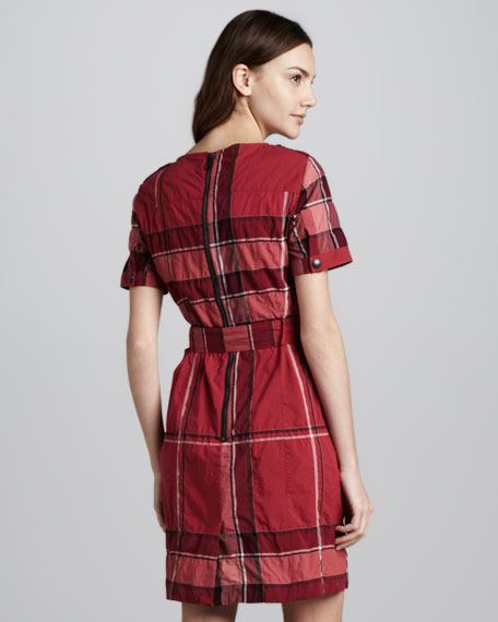 Belted Check Shirtdress