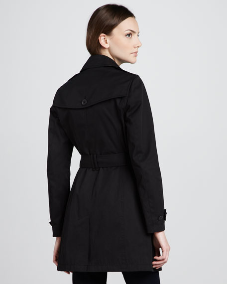 Twill Trenchcoat, Black