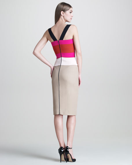 Colorblock Sleeveless Dress