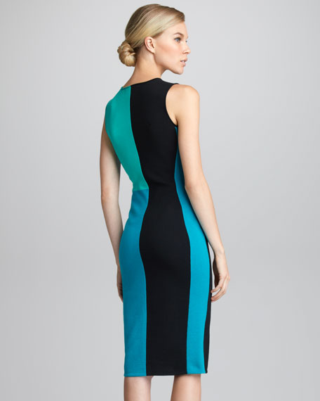 Colorblock Knit Sheath Dress