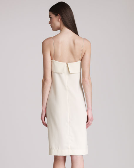Crepe-Back Satin Slip Dress