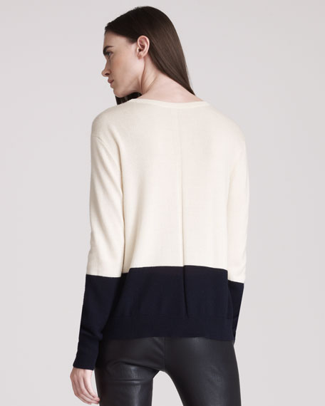 Cashmere Colorblock Knit Sweater