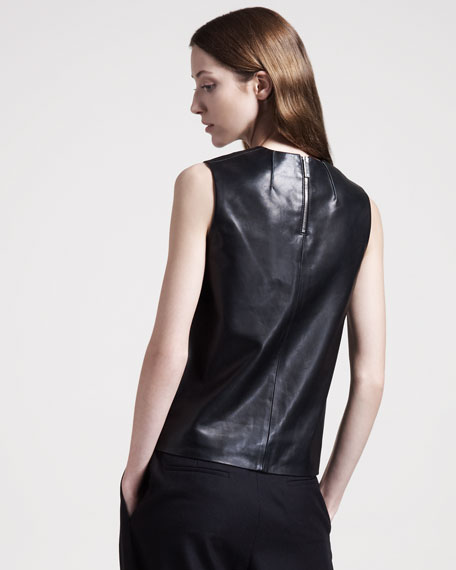 Stretch-Leather Top