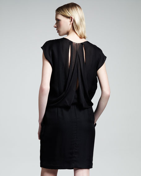 Draped Pocket Dress