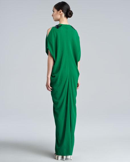 Dettina Beaded Caftan, Green