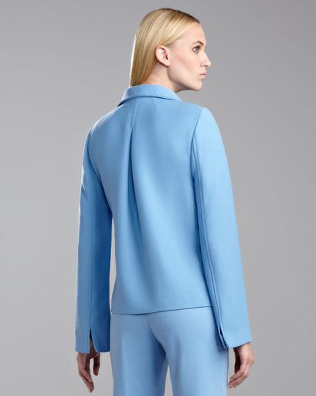 Tropical Double-Faced Neru Jacket, Amalfi Blue