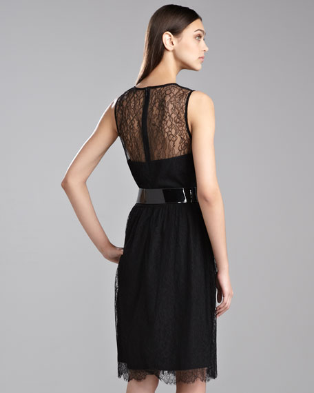 Chantilly Lace Flounce Dress