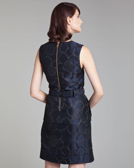 Asymmetric Jacquard Miniskirt