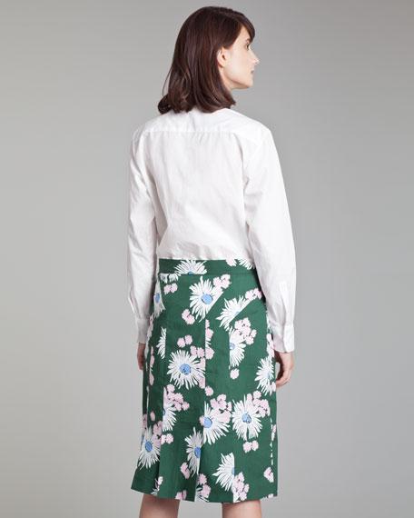Floral-Print High-Waist Skirt