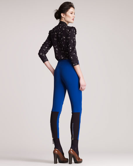 Formfitting Knee-Patch Pants