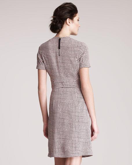 Cube-Print Dress