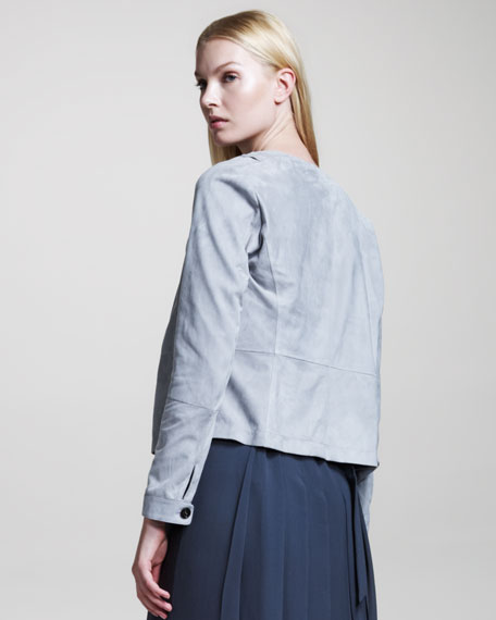 Asymmetric Suede Jacket