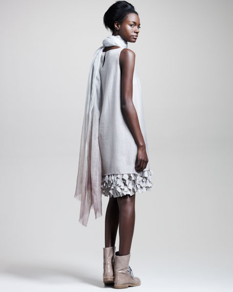 Butterfly-Hem Organza Dress