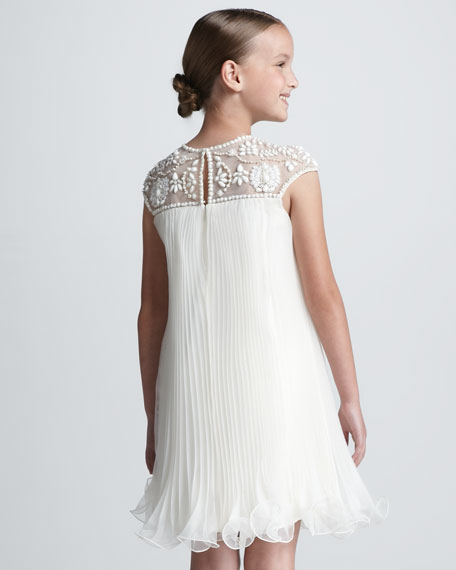 NM + Target Girls' Hand-Beaded Dress