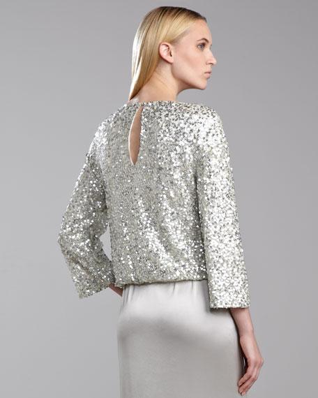 Metallic Sequin Top