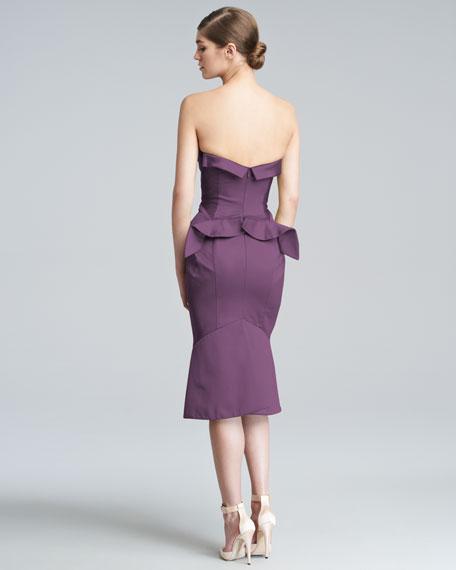 Strapless Duchess Satin Dress