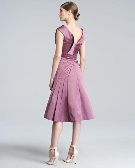 Duchess Satin Flare Dress