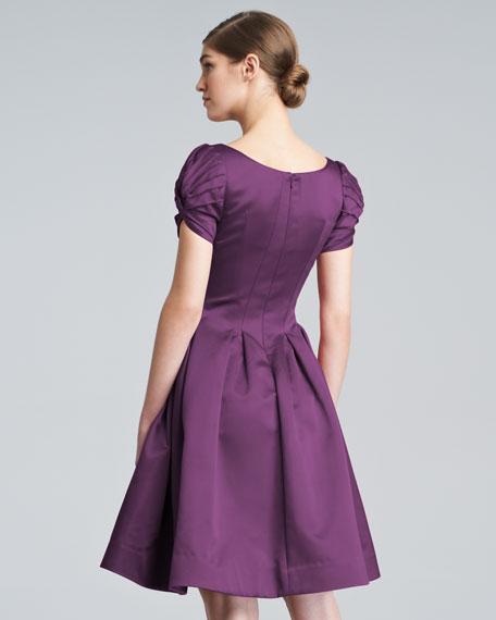 Flared Cloque Dress