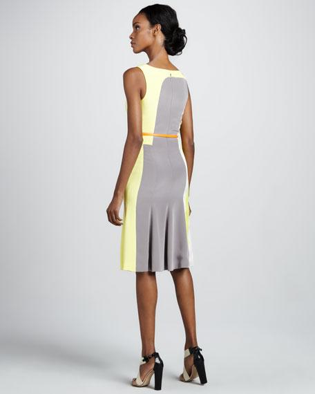 Modern Art-Print Faille Dress