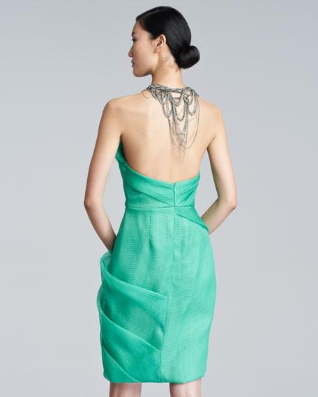 Silk Chain-Halter Dress